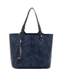 Madden Girl - Blue Nessa Faux Leather Tote - Lyst