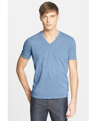 James Perse | Blue Short Sleeve V-neck Tee for Men | Lyst