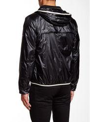 Andrew Marc - Black Harrington Hooded Zip Jacket for Men - Lyst