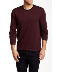 Kenneth Cole - Purple Contrast Trim Sweater for Men - Lyst