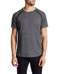 Kenneth Cole   Gray Short Sleeve Seam Seal Crew Neck Shirt for Men   Lyst