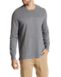 Kenneth Cole   Gray Textured Solid Crewneck Sweater for Men   Lyst