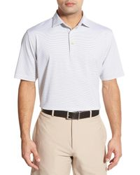 Peter Millar   White Halford Stripe Stretch Jersey Polo for Men   Lyst