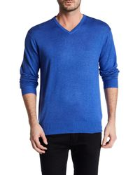 Peter Millar - Blue V-neck Sweater for Men - Lyst