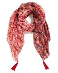 Michael Stars - Red Mixed Tiles Wrap - Lyst