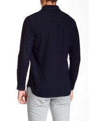 3x1 - Blue Split Collar Shirt for Men - Lyst
