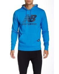 New Balance | Blue Essentials Logo Graphic Hoodie for Men | Lyst