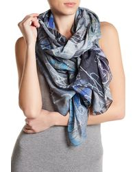 Liebeskind Berlin - Blue Abstract Printed Scarf - Lyst