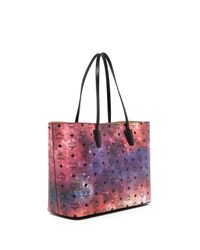 MCM - Multicolor Medium Leather Galaxy Shopper  - Lyst