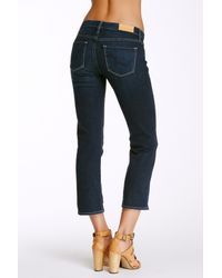 Big Star - Blue Rikki Straight Leg Crop Jean - Lyst