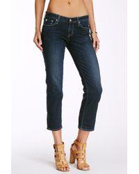 Big Star - Blue Rikki Straight Leg Crop Jean - Lyst