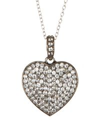 Adornia | Sterling Silver White Topaz Heart Pendant Necklace | Lyst
