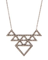 House of Harlow 1960 - Metallic Crystal Pave Tessella Pendant Necklace - Lyst