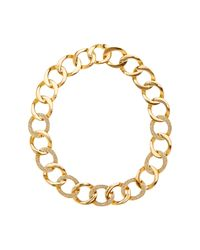 House of Harlow 1960 | Metallic Ra Engraved Crystal Detail Chain Necklace | Lyst
