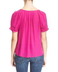 Joie - Pink 'berkeley' Silk Top - Lyst