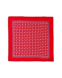 Burma Bibas - Red Neat Silk Pocket Square for Men - Lyst