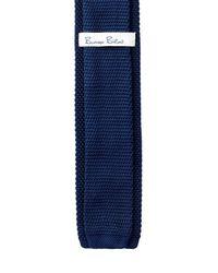 Burma Bibas - Blue Solid Knit Tie for Men - Lyst