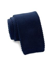 Burma Bibas - Blue Solid Knit Tie for Men - Lyst