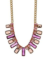 Carolee | Multicolor Nassau Nights Facted Stone Collar Necklace | Lyst