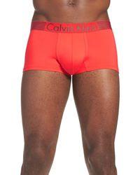 Calvin Klein | Red 'iron Strength' Trunks for Men | Lyst