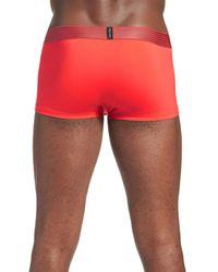 Calvin Klein   Red 'iron Strength' Trunks for Men   Lyst