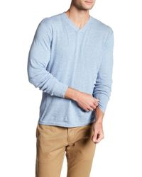 Autumn Cashmere | Blue Ribbed V-neck Sweater for Men | Lyst