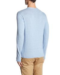 Autumn Cashmere - Blue Ribbed V-neck Sweater for Men - Lyst