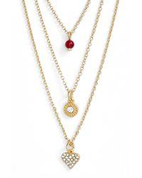 Sequin - Metallic 'color Karma' Triple Strand Pendant Necklace - Lyst