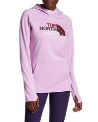 The North Face | Purple Logo Hooded Pullover | Lyst