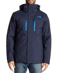 The North Face - Blue Clement Triclimate Jacket for Men - Lyst
