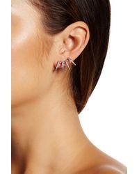 Nadri | Black Starry Night Multi Hoop Ear Crawlers | Lyst