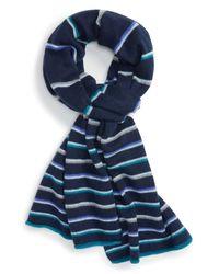 Halogen | Blue Wool & Cashmere Scarf | Lyst