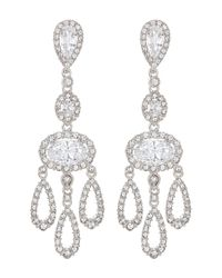 Nadri | Multicolor Cz Chandelier Drop Earrings | Lyst