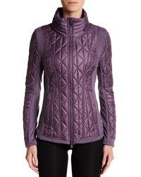 Zella - Purple Brooklyn Quilted Jacket - Lyst