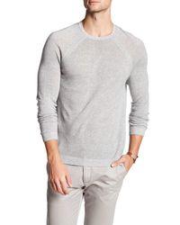 Autumn Cashmere | Gray Raglan Crew Neck Sweater for Men | Lyst
