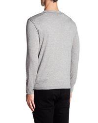 Autumn Cashmere - Gray Long Sleeve Colorblock Shirt for Men - Lyst