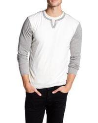 Autumn Cashmere   Gray Long Sleeve Colorblock Shirt for Men   Lyst