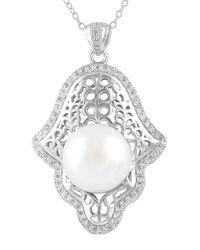 Splendid | Multicolor Hamsa 12-12.5mm Cultured Freshwater Pearl Pendant Necklace | Lyst