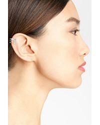 Nadri | Metallic Dita Cz Stud Earrings | Lyst