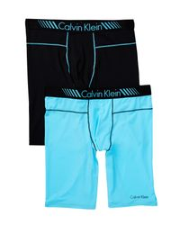 Calvin Klein | Blue Micro Cycle Shorts - Pack Of 2 for Men | Lyst
