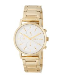 DKNY | Metallic Women's Mirror Dial Chronograph Bracelet Watch | Lyst