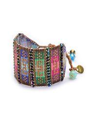 Mishky - Pink Nahui Wide Beaded Bracelet - Lyst