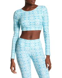 Volcom | Blue Printed Long Sleeve Rash Guard | Lyst