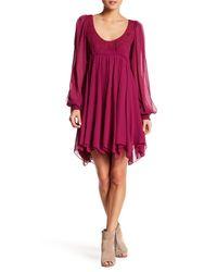 Free People   Purple Tatiana Beaded Swing Dress   Lyst