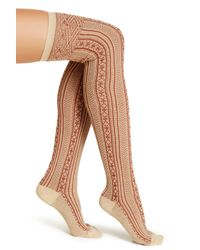 Free People - Multicolor Over The Knee Socks - Lyst