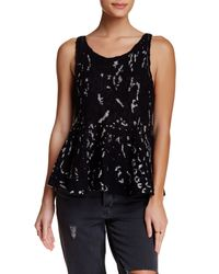 Free People | Black Side By Side Flared Tank | Lyst
