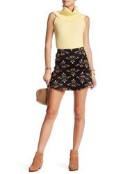 Free People | Black Roll With Us Corduroy Skirt | Lyst