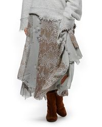 Free People | Gray Rock On Maxi Skirt | Lyst