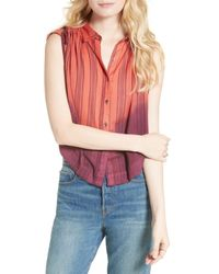 Free People   Multicolor Baby Blues Shirt   Lyst