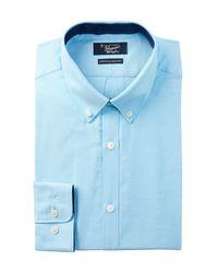 Original Penguin | Blue Oxford Trim Fit Dress Shirt for Men | Lyst